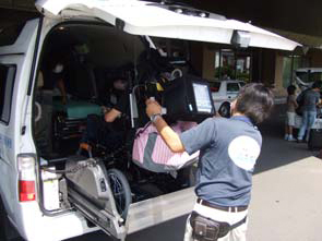 函館の介護タクシー「救太郎」。ドライバーは元救急隊員