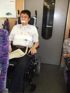 東北新幹線はやての車椅子席