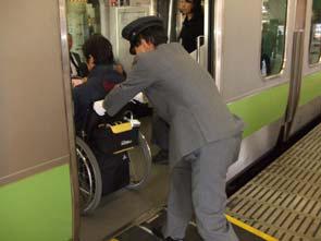 JR上野駅で山手線に乗る