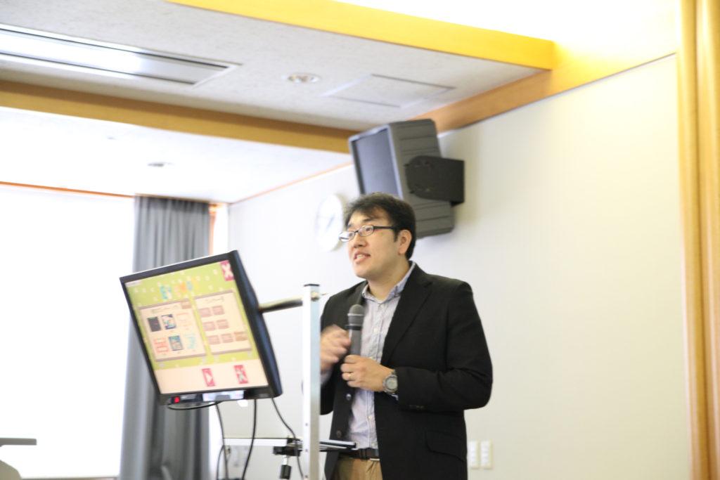 講師の伊藤先生と視線入力訓練ソフト